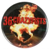 36 Crazyfists - 'Rest Inside the Flames' Button Badge